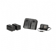 IKAN DV bateria Kit con 2x Sony NP-F750 5800mah Lithium Batteries y Dual Battery Charger
